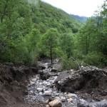 Éboulements sur la route du Col d'Agnes