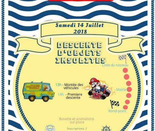 Descente d'objets insolites le 14 juillet 2018